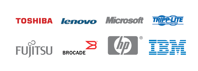 Thosiba - Lenovo - Microsoft - Tripp-Lite - Fujitsu - Brocade - Hp - IBM